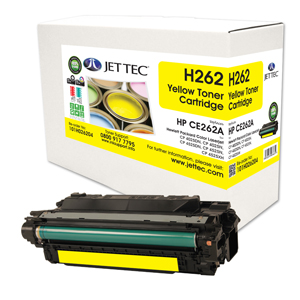 Jet Tec H262 remanufactured yellow HPCE262A toner printer cartridges